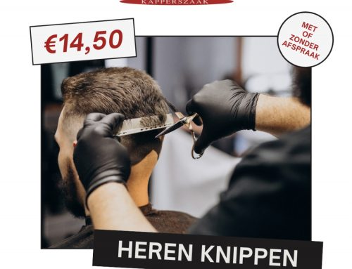 Heren knippen voor €14,50!
